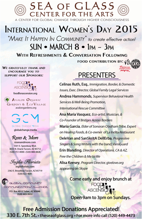 International Women's Day Event at the Sea of Glass