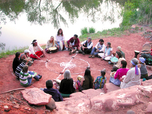 A Cosmic Wheel of Destiny ceremony conducted by Spirit Steps Tours.