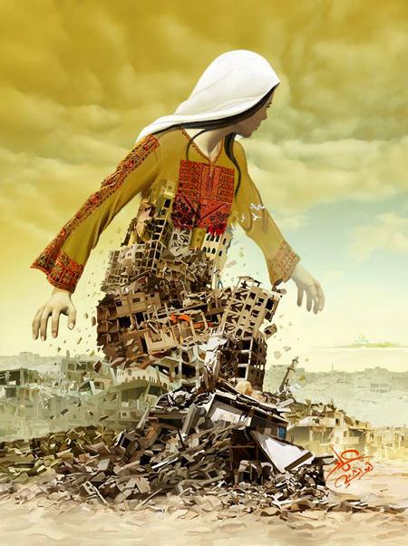 Art by Palestinian Artist Imad Abu Shtayyah